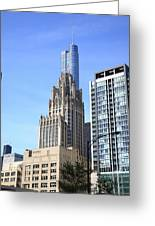 Chicago Skyscrapers Greeting Card
