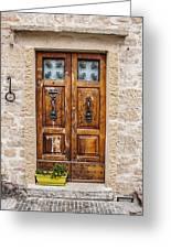 Italian Door  Greeting Card
