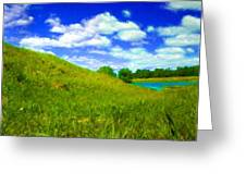 Pictures Of Oil Paintings Landscape Greeting Card