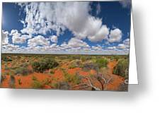 360 Of Clouds Over Desert Greeting Card