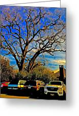 365 012716 Ancient Valley Oak And Parking Greeting Card