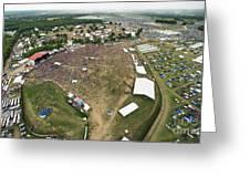Bonnaroo Music Festival Aerial Photography Greeting Card