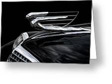 37 Cadillac Hood Angel Greeting Card