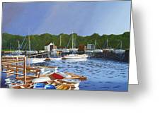 38 Boats Greeting Card