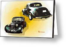 '38 Plymouth Greeting Card