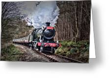 3802 Mince Pie Special On The Llangollen Line. Greeting Card