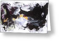 Abstract Expressionsim Art Greeting Card
