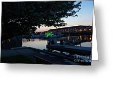 Racine Coastal Seascape - Michigan Lake In Wisconsin By Adam Asar Greeting Card