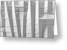 White Folded Paper Greeting Card