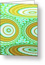 3d Candy Circles  Greeting Card
