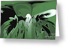3d Green Abstract Greeting Card