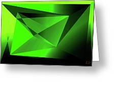 3d-greenpyramids Greeting Card