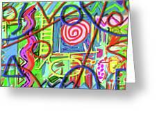 3d Jazz Greeting Card