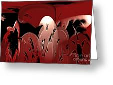 3d Red Abstract Greeting Card