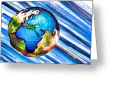 3d Render Of Planet Earth 10 Greeting Card