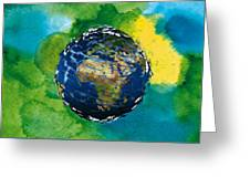 3d Render Of Planet Earth 14 Greeting Card