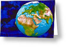 3d Render Of Planet Earth 6 Greeting Card