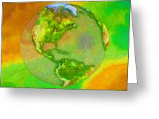 3d Render Of Planet Earth Greeting Card