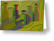 3d Stereo Cubism - Use Red-cyan 3d Glasses Greeting Card