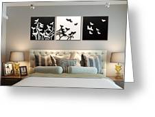 3d Wall Decor Painting Y1921a Greeting Card