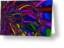 3x1 Abstract 911 Greeting Card