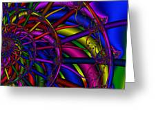 3x1 Abstract 912 Greeting Card