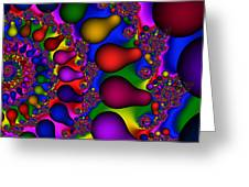 3x1 Abstract 913 Greeting Card
