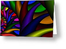 3x1 Abstract 915 Greeting Card