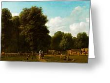 A View Of The The Haarlemmerhout Greeting Card