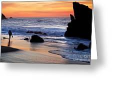 Adraga Beach In Sintra Natural Park Greeting Card