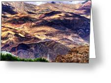 aerial view of Leh ladakh landscape Jammu and Kashmir India Greeting Card