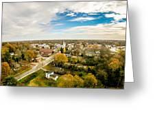 Aerial View Over White Rose City York Soth Carolina Greeting Card