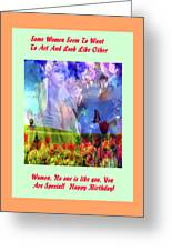 Angel In A Field Greeting Card