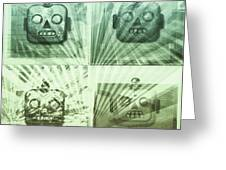 4 Angry Robots Greeting Card