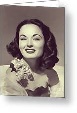 Ann Blyth, Vintage Actress Greeting Card