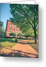 Architecture And Buildings On Streets Of Washington Dc Greeting Card
