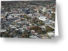 Asheville Aerial Photo Greeting Card