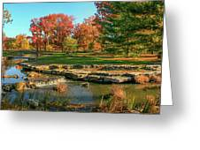 Autumn In Forest Park St Louis Missouri Greeting Card