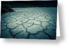Badwater Basin Death Valley Salt Formations Greeting Card