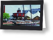 4 Baltimore Icons In One Shot Greeting Card
