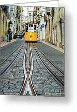 Bica Funicular, Lisbon, Portugal Greeting Card
