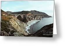 Bixby Creek Bridge Big Sur Photo By Pat Hathaway Greeting Card