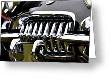 Black Corvette Greeting Card