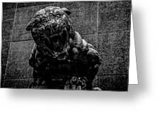 Black Panther Statue Greeting Card