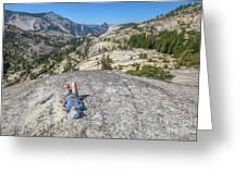 Break After Yosemite Hiking Greeting Card