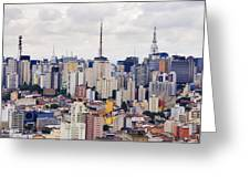 Buildings Of Downtown Sao Paulo Greeting Card