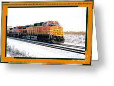 Burlington Northern Santa Fe Bnsf - Railimages@aol.com Greeting Card