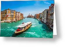 Canal Grande With Basilica Di Santa Maria Della Salute, Venice Greeting Card