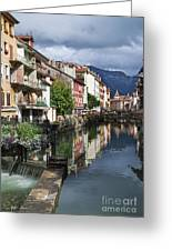 Canals Of Annecy Greeting Card