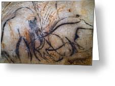 Cave Art: Mammoth Greeting Card